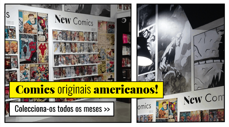 Comics originais made in USA: coleccione-os todos os meses!